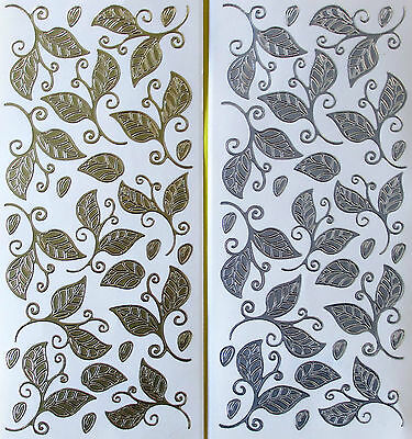 Lovely Leaves Peel Off Stickers Gold Or Silver