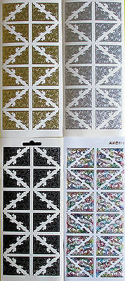 Classic Corners PEEL OFF STICKERS Delicate Filigree Patterned Cardmaking