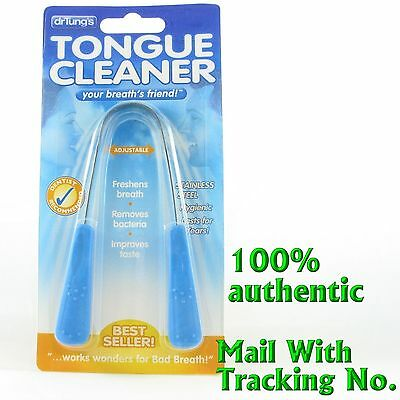 Dr. Tung's Tungs Adjustable Stainless Steel TONGUE CLEANER Sent W/ Tracking No.