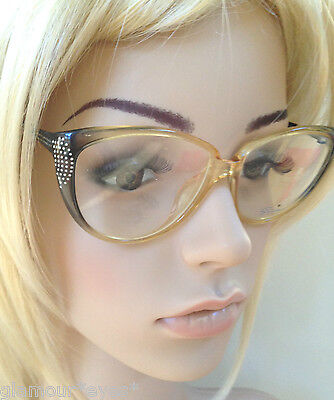 VTG EyeGlasses RX Black Cat Eye Frames Glasses 4170 SAPHIRA Brille Occhiali