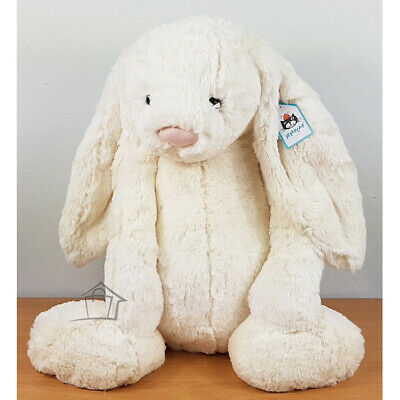 NEW Jellycat Bashful Cream Bunny HUGE 51cm - Soft Rabbit - Easter Plush Toy