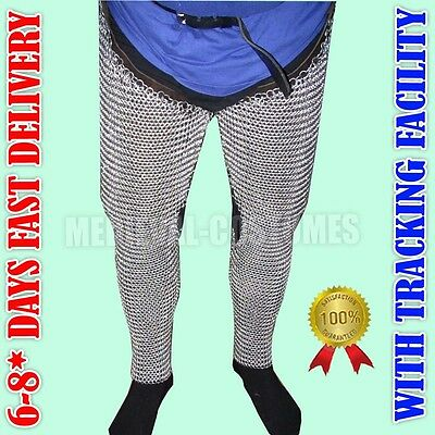 Chainmail Leggings Medieval Knight Armor Battle Ready Chain Maille NK1715