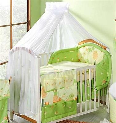 Crown Cot Canopy / Mosquito Net + Free Floor Stand Holder Rod- White Rose