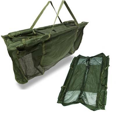 Carp Fishing Deluxe Floating Floatation Retainer Weigh Sling With Carry Case NGT
