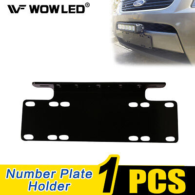 Universal License Number Plate Mounting Bracket Holder for LED Work Light Bar