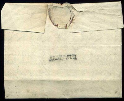 Scotland 1748 'ARBROATH' entire wrapper to Edinburgh
