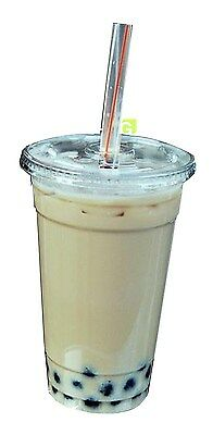 Green Direct 100 9 Oz. Plastic Clear Cups With Flat Lids for All your Smoothies
