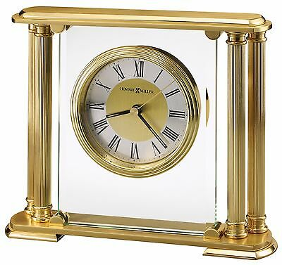 613-627 Athens, A Brushed Solid Brass  Howard Miller Table/ Mantle Clock
