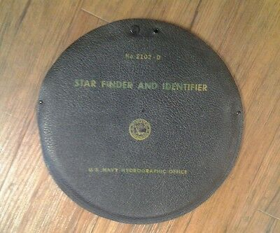 U.S.Navy Hydrographic Star Finder and identifier in Case Model #2102-D