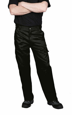 Work Pants Cargo Men, Military Security Trouser, Navy Black 30-48 Portwest C701
