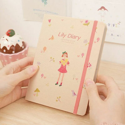 [LILY Diary] Diary Scheduler Book Journal Weekly Daily Planner + Stamp Sticker