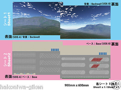 [Hakoniwagiken DS150-003 1/150] Diorama Sheet SA/PA  car park base(900x600mm)