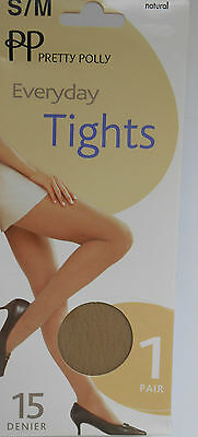 Pretty Polly Everyday Tights 15 Denier  Natural Medium/Large Bargain Prices