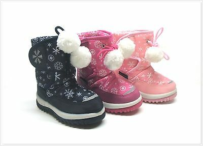 NIB Toddler Girl's Winter Snow Boots Size 6 - 11 Three Colors