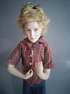 Porcelain Doll 17 inches tall In Beautiful Condition 1988 Curtis Publishing Co