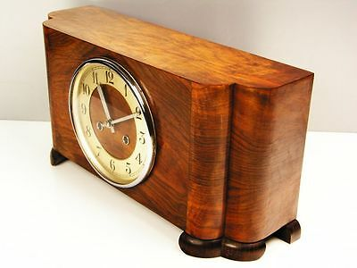 Beautiful Pure  Art Deco  Kieninger Chiming Mantel Clock