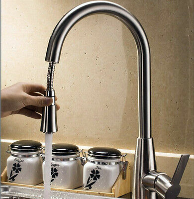 NEW 304 Stainless steel Single Handle Kitchen Faucet &Pull Out sprayer Mixer Tap
