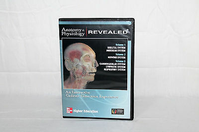 McGraw Hill Anatomy & Physiology Revealed Vols 1-3 Interactive Dissection PC CD