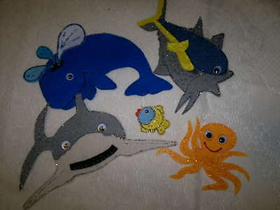 Felt Board/flannel Story Rhyme Teacher Resource - Slippery Fish Slippery Fish