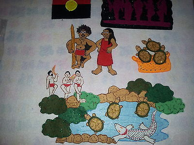 Felt Boards Story Indigenous Dreamtime Resource- Greedy Man And The Crocodile