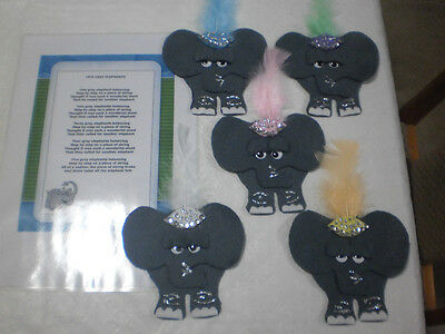 Felt Board Story Rhyme Teacher Resource -  5 Five Grey Elephants Balancing