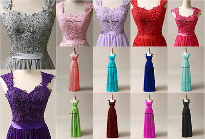 STOCK New Hot Bridesmaid Chiffon Formal Prom Party Ball Evening Dress Size 6-24