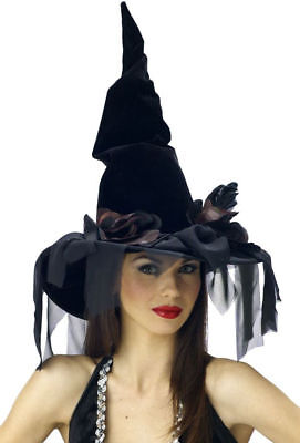 Morris Costumes Women's Witch Polybend Deluxe Winding Black Hat. MR167027