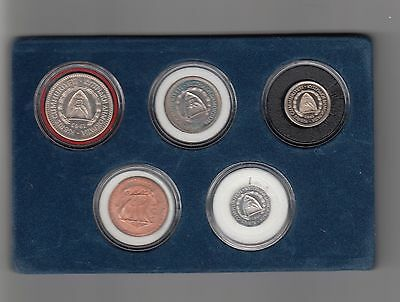 Zypern 5 Werte Proof Set 1963 Nr. 8/54/15/325