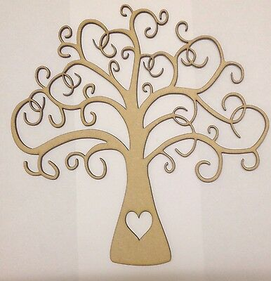 Wooden Family Tree 40cm X 40cm Craft Shape Buy 2 Get 3rd Free