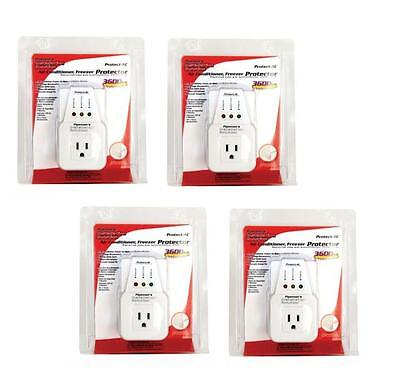 4 Lot Pack Appliance & A/c Brownout Voltage Surge Protector 3600 Watts Va
