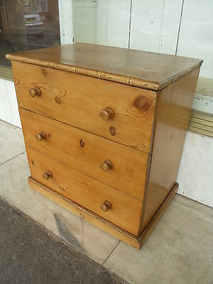 Antique Style Pine Box / Chest In The Shape Of A Chest Of Drawers /  Laundry Box