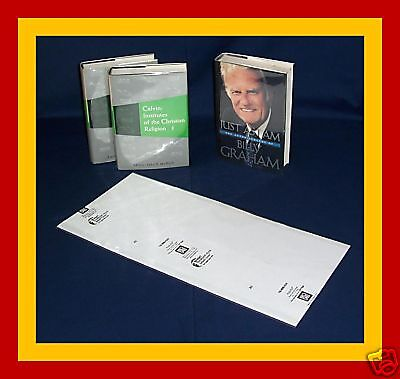 "1 (one) 9 1/2""H x 20""W Brodart Fold-on Book Jacket Cover -- Lo-Luster Mylar"