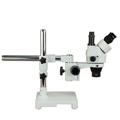 OMAX 3.5X-90X Long Working Distance Trinocular Boom Stand Zoom Stereo Microscope