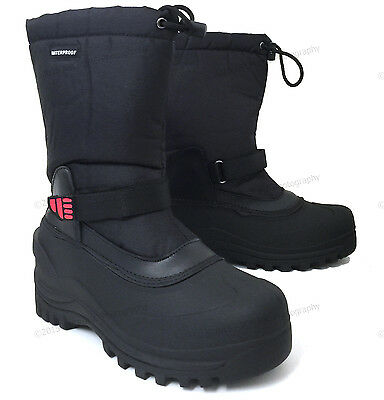 """Mens Winter Boots Nylon 10"""" Insulated Waterproof Thermolite Ski Snow Shoes Sizes"""