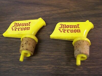 "Vintage  Lot Of Two - ""mount Vernon""  Pourer  - Very Good"