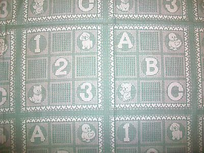 """123 and ABC  BABY ANIMALS COTTON FABRIC - 50"""" x 44"""""""