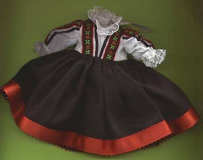 "Madame Alexander 8"" Doll Black, White and Red Dress"