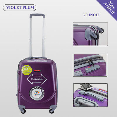 Single 20 inch 40L Luggage Trolley Travel Bag 4 Wheel suitcase Cabin Carry On