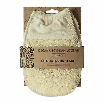 Hydrea Organic Egyptian Loofah Exfoliating Glove With Elasticated Cuff