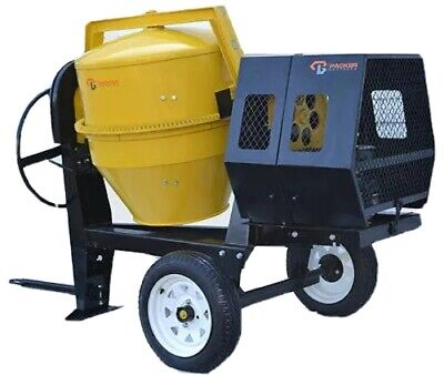 Packer Brothers PB2600 Diesel Engine towable concrete cement mixer 9 CF