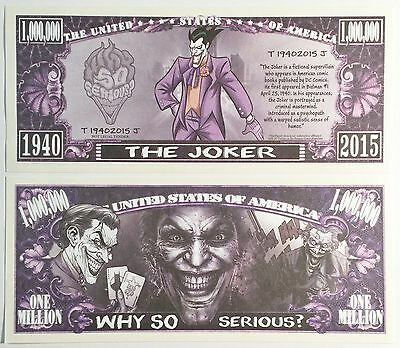 RARE: THE JOKER 1,000,000 Novelty Note, Cartoons Buy 5 Get one FREE