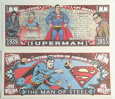 RARE: SUPERMAN (Comic) 1,000,000 Novelty Note, Cartoons Buy 5 Get one FREE