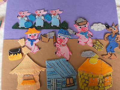 Felt Board Story Rhyme Teacher Resource - The 3 Three Little Pigs