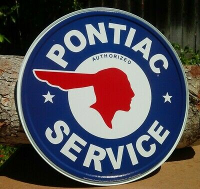 PONTIAC SERVICE Collectible TIN METAL SIGN Rustic Poster Retro Classic