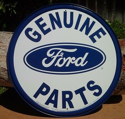 FORD GENUINE PARTS Collectible TIN METAL SIGN Rustic Poster Retro Classic