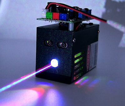 RGB 500mW White Laser Beam/TTL Laser Light/Combined by 532nm+638nm+450nm Laser.
