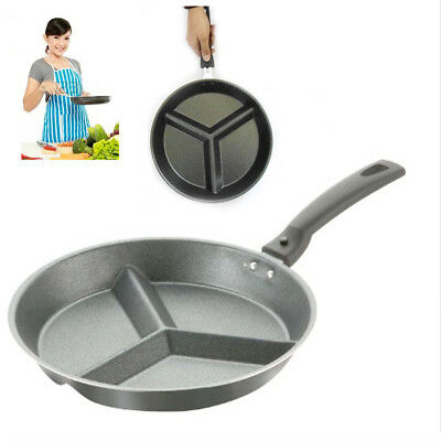 Pendeford Non-Stick 3 Section Frying Fry Pan BLACK Detach Hand Kitchen Skillet