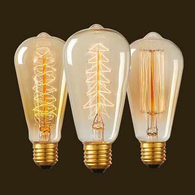 Vintage Edison Light Bulb 40W 60W 220V 110V Antique E27 Base Incandescent Bulbs