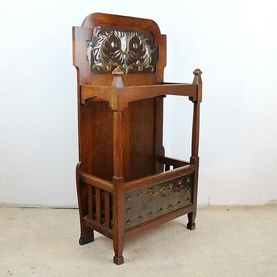 Shapland & Petter Arts & Crafts Walnut Stick Stand -UK delivery £85