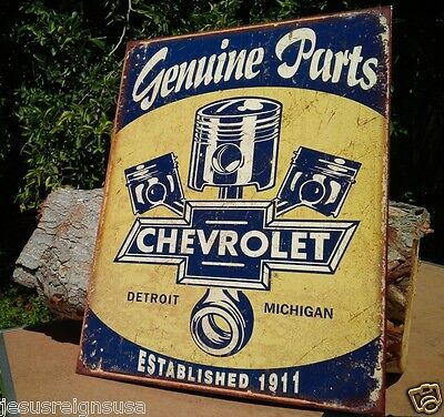 CHEVY PARTS Rustic Collectible Tin Metal Classic Sign Poster Garage Shop GM